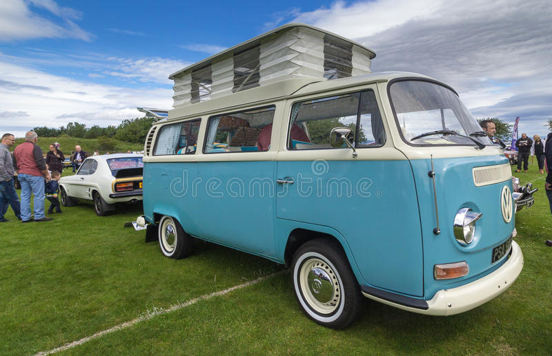 Volkswagen camper van royalty free stock photo