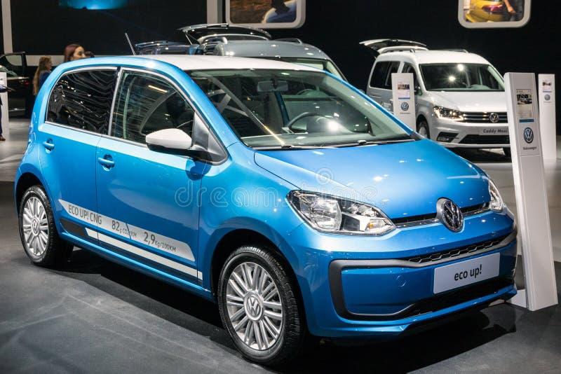 Volkswagen Eco op auto stock foto's