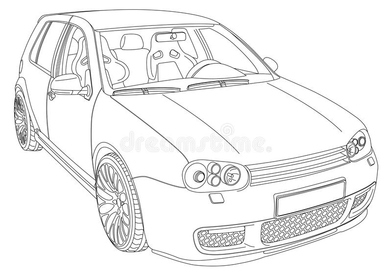 Volkswagen Golf 4 royalty free stock photography