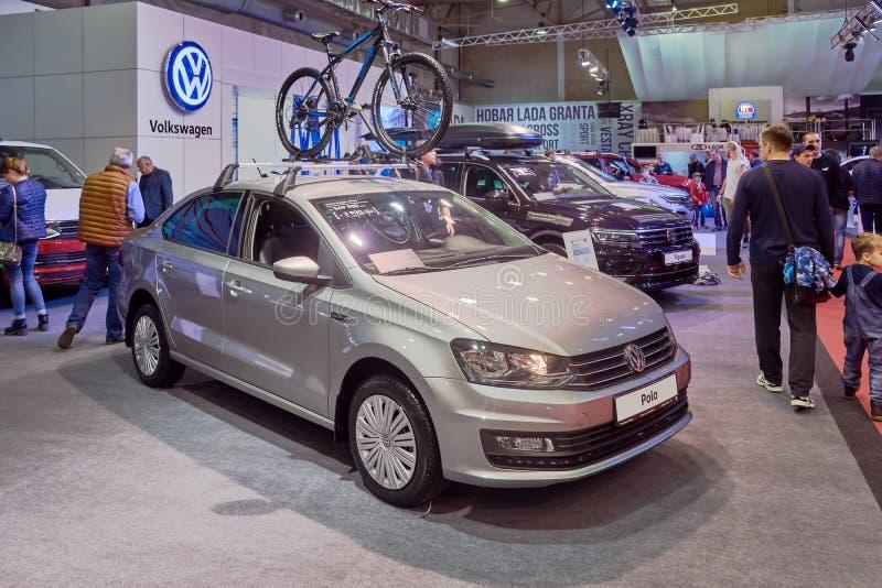 Volkswagen högra Polo Front royaltyfria foton