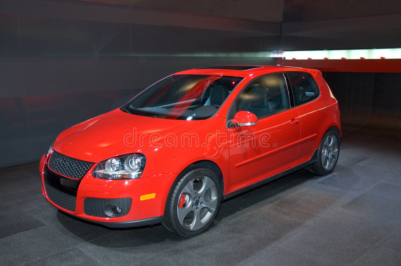 Download Volkswagen Hatchback stock image. Image of inexpensive - 465087
