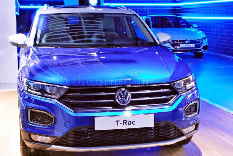 Volkswagen-het Huis is als geen andere bekende autotoonzaal royalty-vrije stock afbeelding