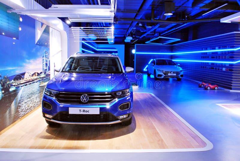 Volkswagen-het Huis is als geen andere bekende autotoonzaal stock fotografie