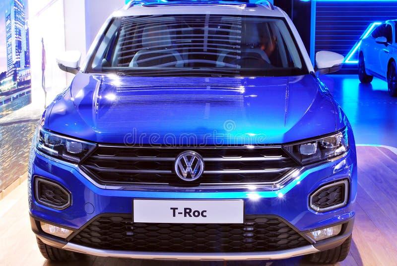 Volkswagen-het Huis is als geen andere bekende autotoonzaal royalty-vrije stock foto's