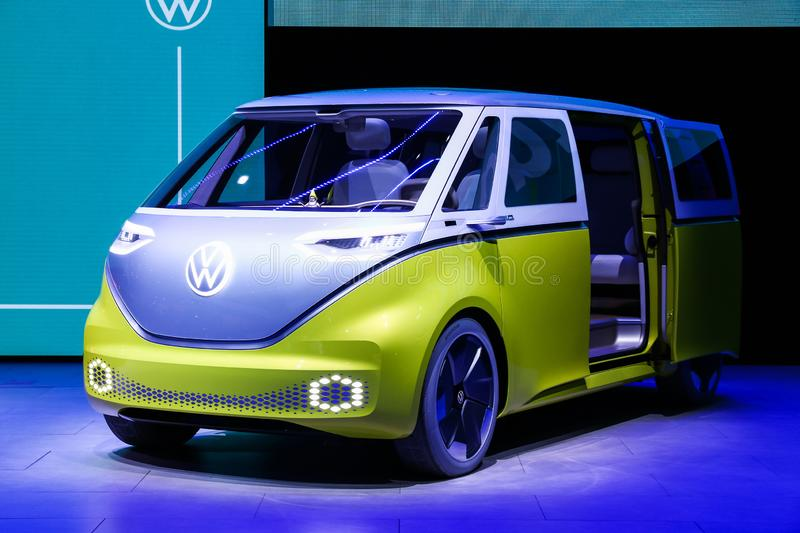 Volkswagen I.D.Buzz royalty free stock images
