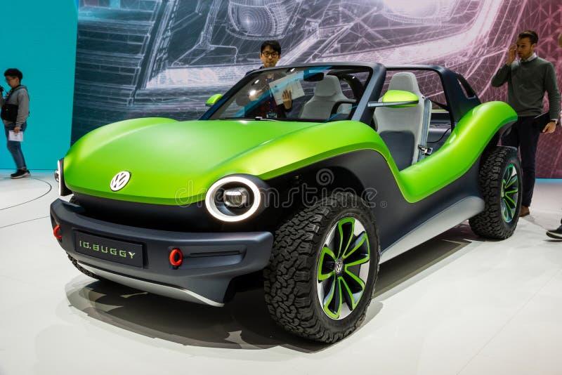 Volkswagen I d Verwanztes Konzeptauto stockbilder