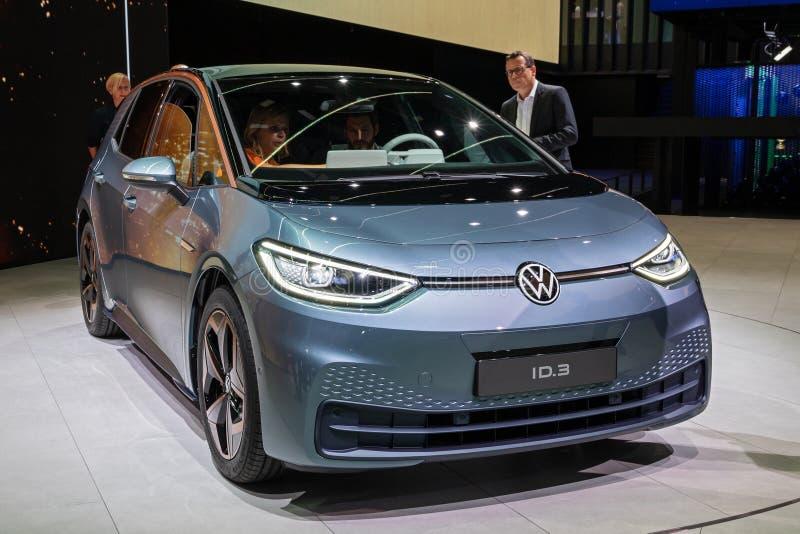 Volkswagen ID 3 elbilar royaltyfria bilder