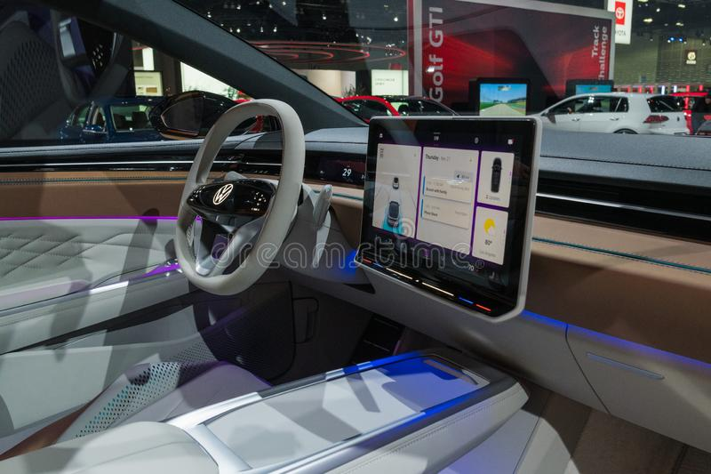 Volkswagen ID Space Vizzion Concep on display during Los Angeles Auto Show stock photos