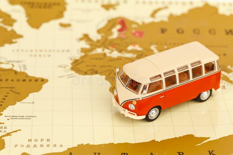 Volkswagen-Kampeerautostuk speelgoed royalty-vrije stock afbeelding