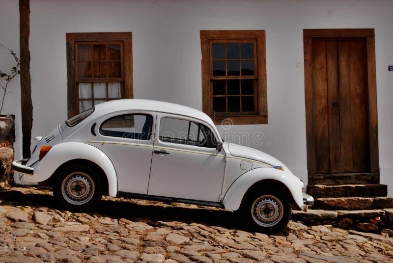 Volkswagen Kever geroepen Fusca in Brazilië royalty-vrije stock foto's