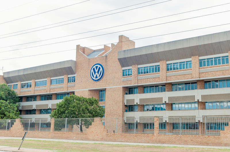 Volkswagen offices in Uitenhage. UITENHAGE, SOUTH AFRICA - MARCH 7, 2016: Office buildings at the Volkswagen factory in Uitenhage. The first vehicle was built stock photo