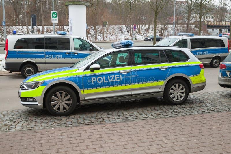 Volkswagen Passat, Duitse politiewagen royalty-vrije stock foto's