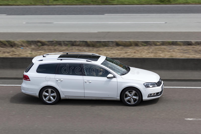 Volkswagen Passat-Landgoed stock afbeeldingen