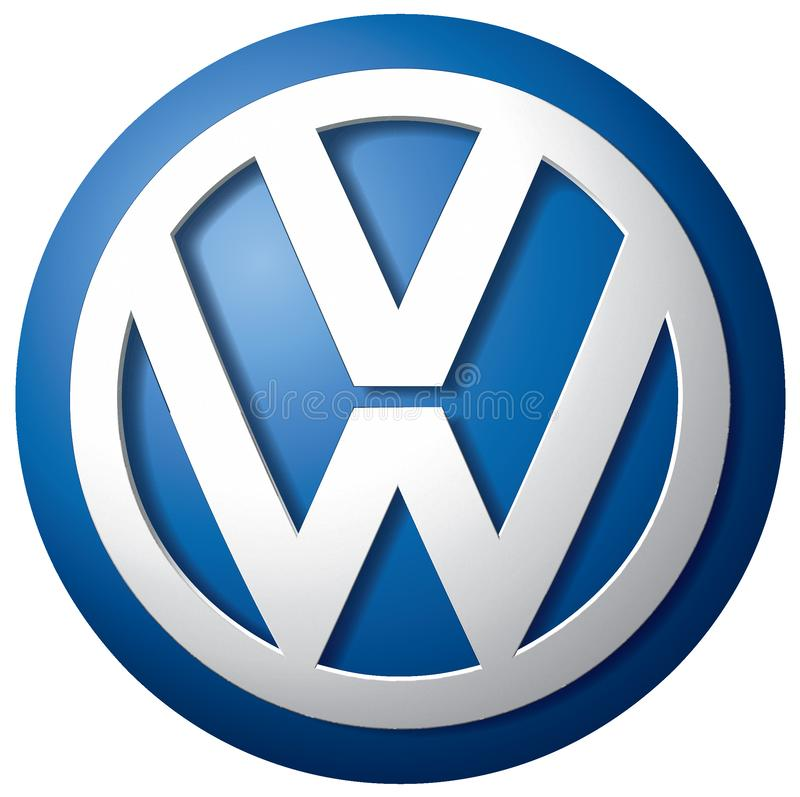 Volkswagen-pictogramembleem vector illustratie