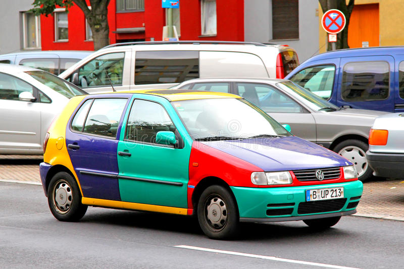 Volkswagen Polo Harlekin royaltyfri bild