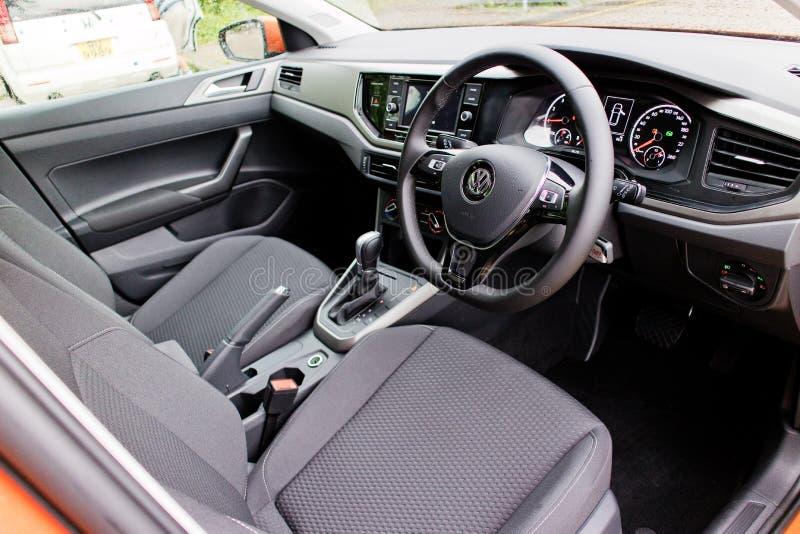 Volkswagen Polo 2018 intérieur image libre de droits