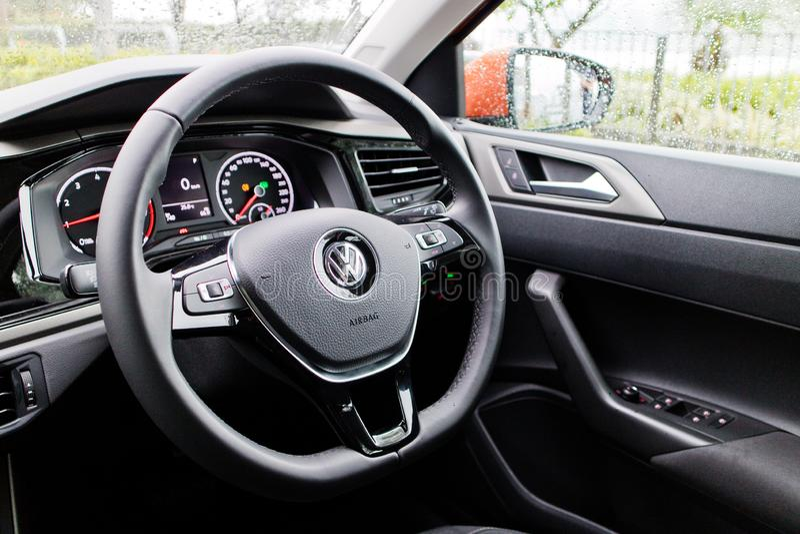 Volkswagen Polo 2018 intérieur image stock
