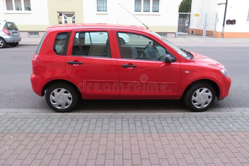 Volkswagen Polo rosso GTI fotografia stock