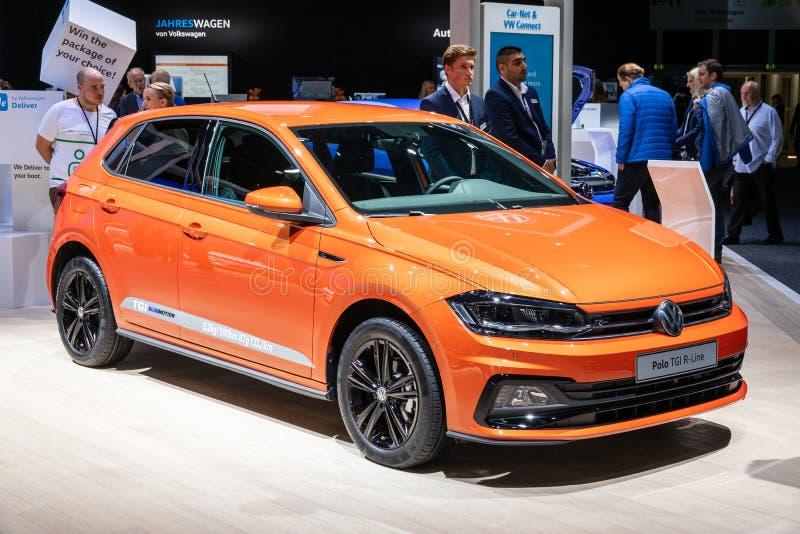 Volkswagen Polo TGI R-Line car stock photo