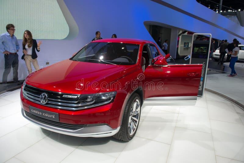 Volkswagen-Querkupee - russische Premiere lizenzfreies stockfoto