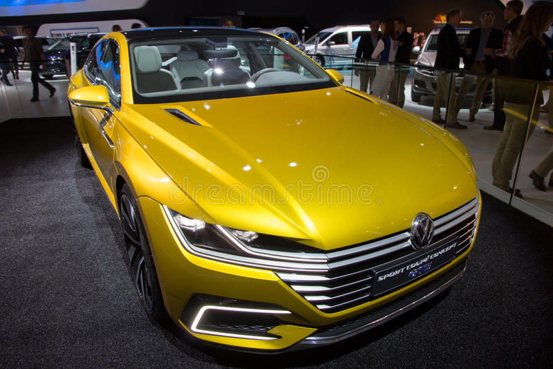 Volkswagen-Sport-Coupé-Konzept GTE lizenzfreie stockfotos