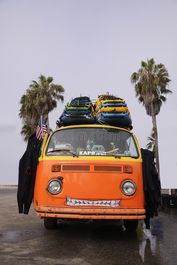 Volkswagen-strand royalty-vrije stock afbeeldingen