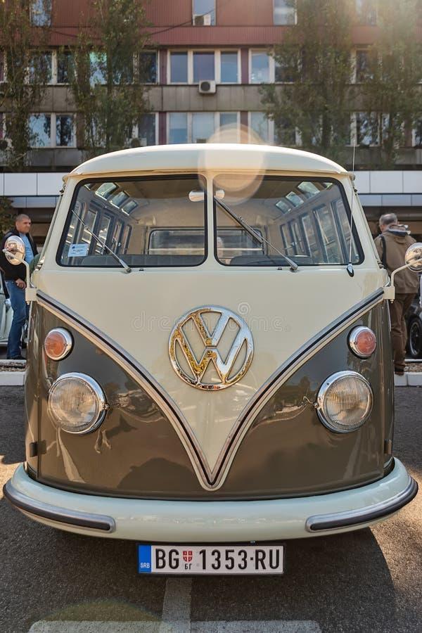 Volkswagen-T1 Vervoerder campervan Kombi of Microbus royalty-vrije stock fotografie