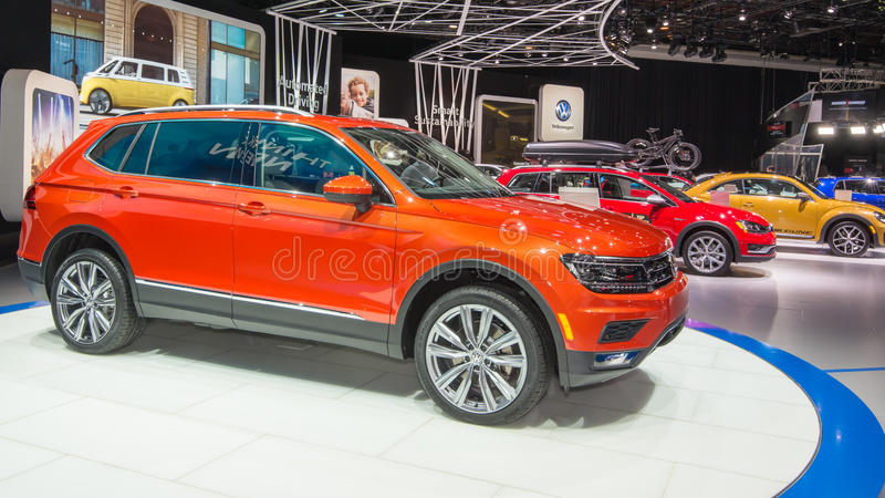 Volkswagen Tiguan 2018 royaltyfri foto