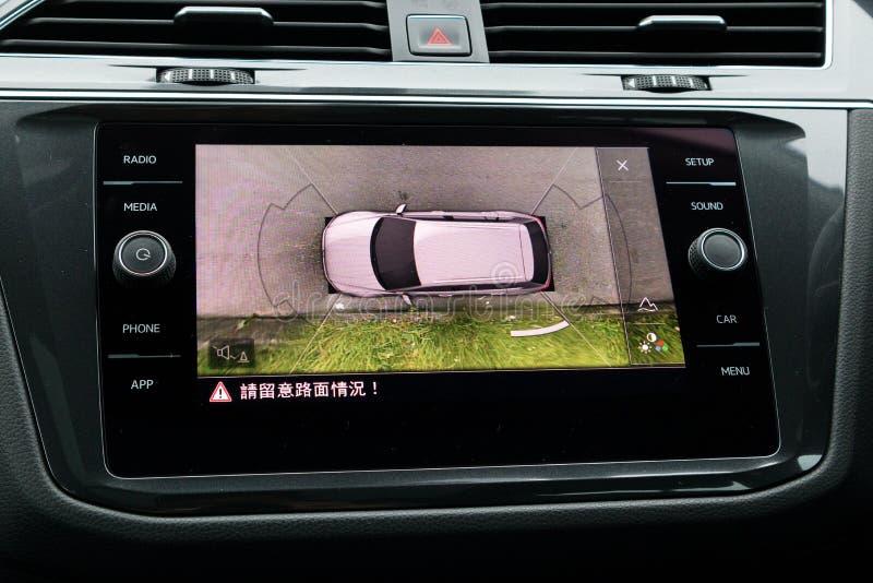 Volkswagen Tiguan Allspace parking kamera obrazy royalty free