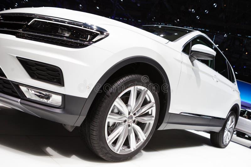 Volkswagen Tiguan i Genève arkivbilder