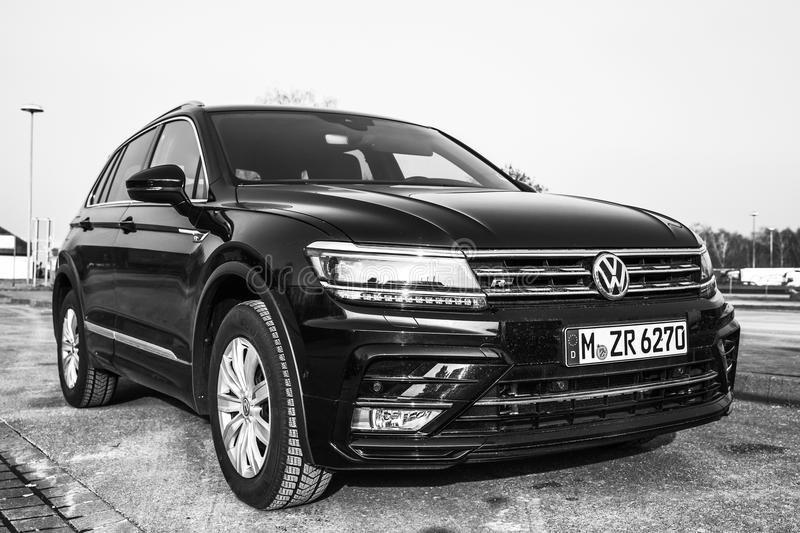 volkswagen tiguan 4x4 r line 2017 editorial photo. Black Bedroom Furniture Sets. Home Design Ideas