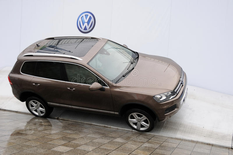 Volkswagen Touareg SUV fotografía de archivo