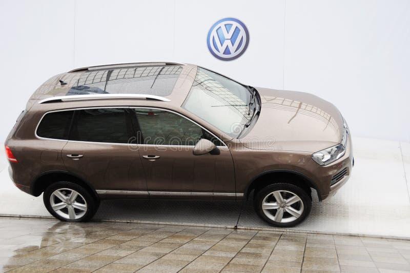 Volkswagen Touareg SUV foto de archivo
