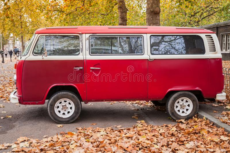 Download Volkswagen Type 2 Red Van Side View Editorial Photo