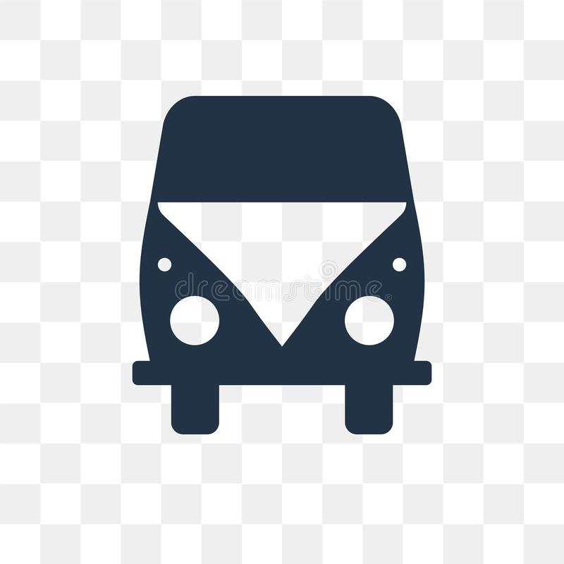 Volkswagen van vector icon isolated on transparent background, V. Olkswagen van transparency concept can be used web and mobile vector illustration
