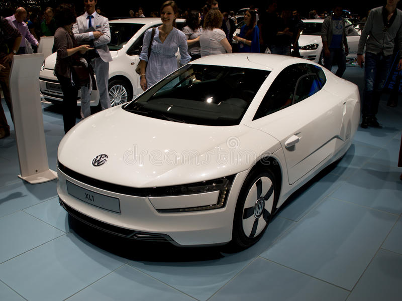 Volkswagen XL1 Genève 2014 royaltyfri foto