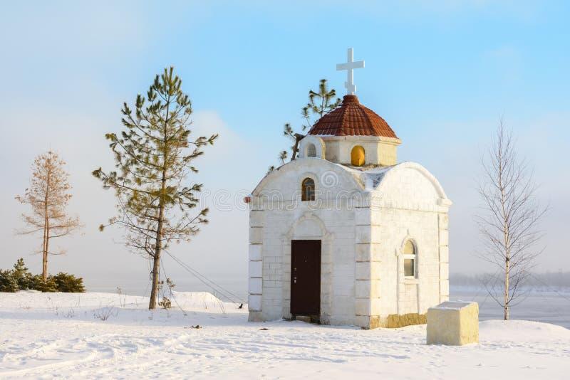 volkswagens Rosja, Luty - 3, 2019 Świątynia na cześć ikonę matka bóg nowicjusz w Volgograd w obrazy stock
