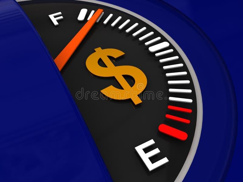 Voll vom Kraftstoff stock abbildung