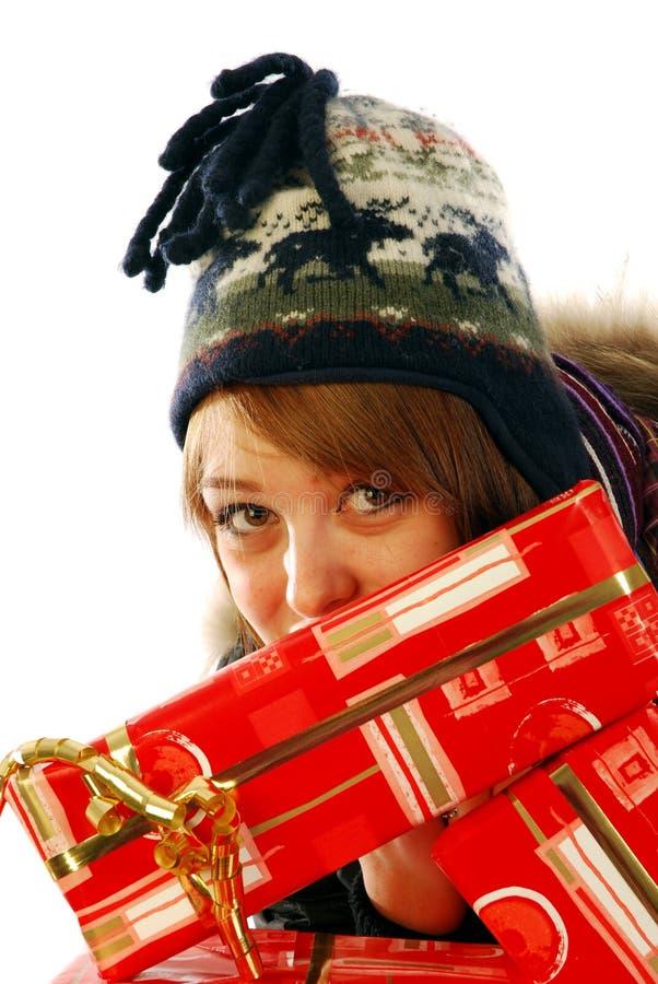Voll von den Geschenken lizenzfreie stockfotos