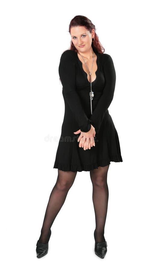 Volle Karosserie der schönen Frau lizenzfreies stockbild