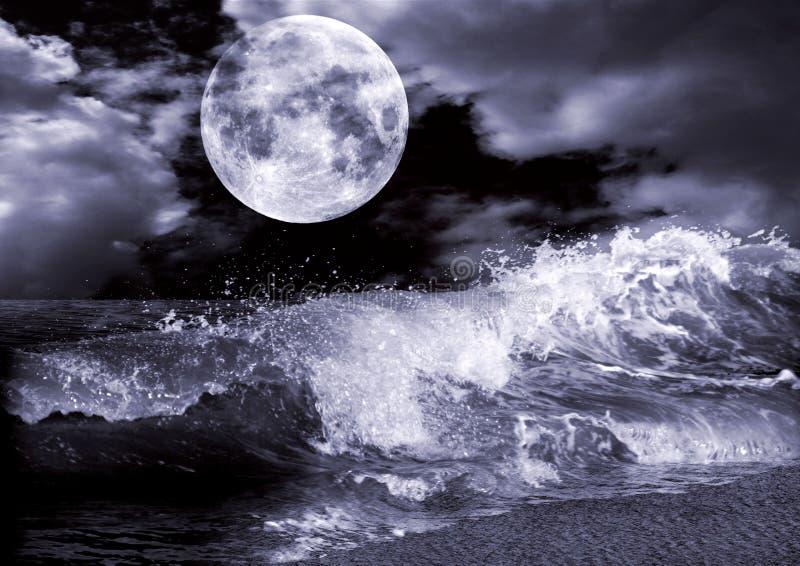 Volle maan stock foto