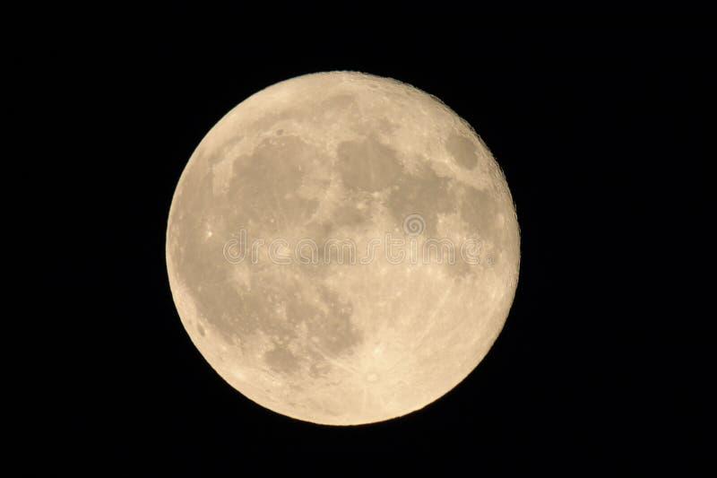 Volle maan in Augustus royalty-vrije stock foto