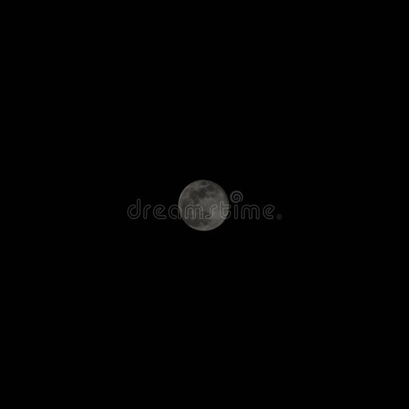 Volle maan in de zwarte nacht stock foto