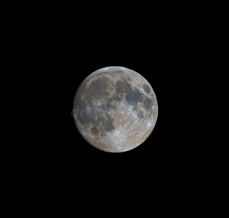 Volle maan het in de was zetten stock afbeelding