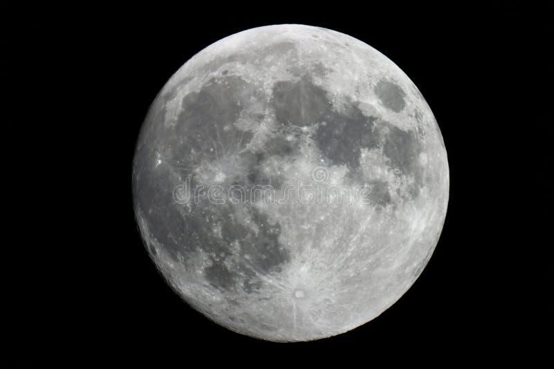 Volle maanachtergrond, de natuurlijke satelliet van de Volle maanaarde ` s royalty-vrije stock afbeelding