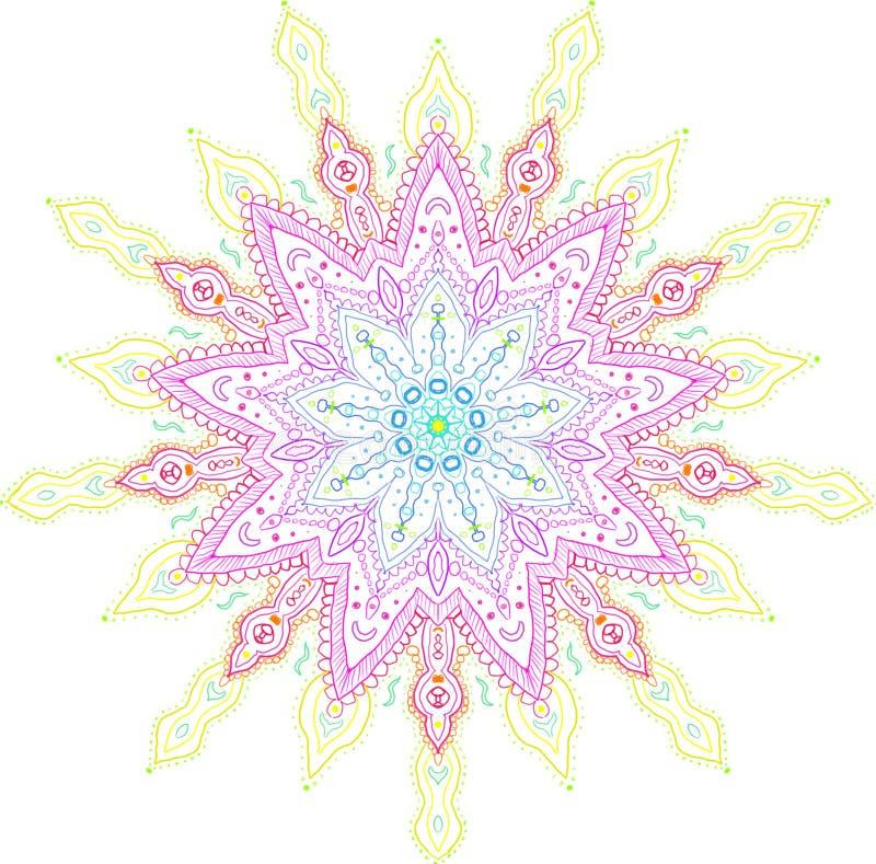 Volle Spektrum-Regenbogen-Mandala stockfoto