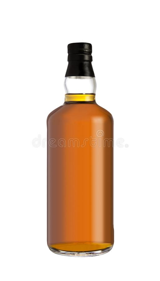 Volle Whiskyflasche stockfoto