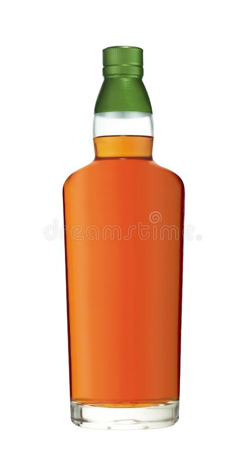 Volle Whiskyflasche stockfotos