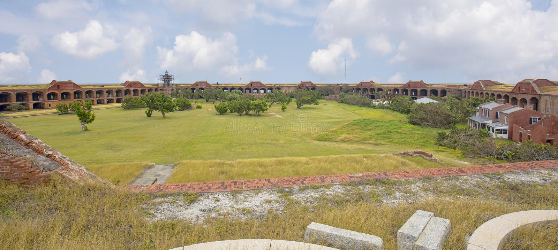 Volledig Binnenland van Fort Jefferson, Droge Tortugas stock foto
