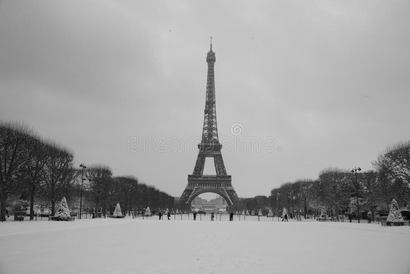 Volledig de torenlandschap van sneeuweiffel royalty-vrije stock foto's